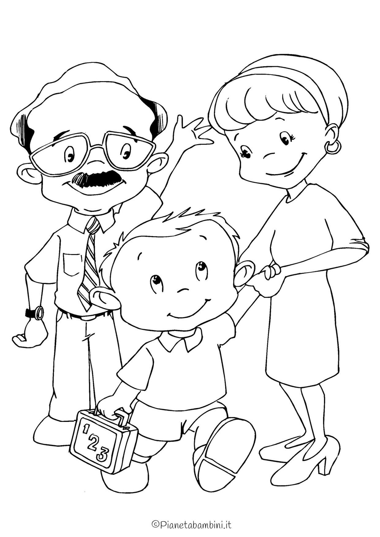 Disegno festa del papà da colorare 13