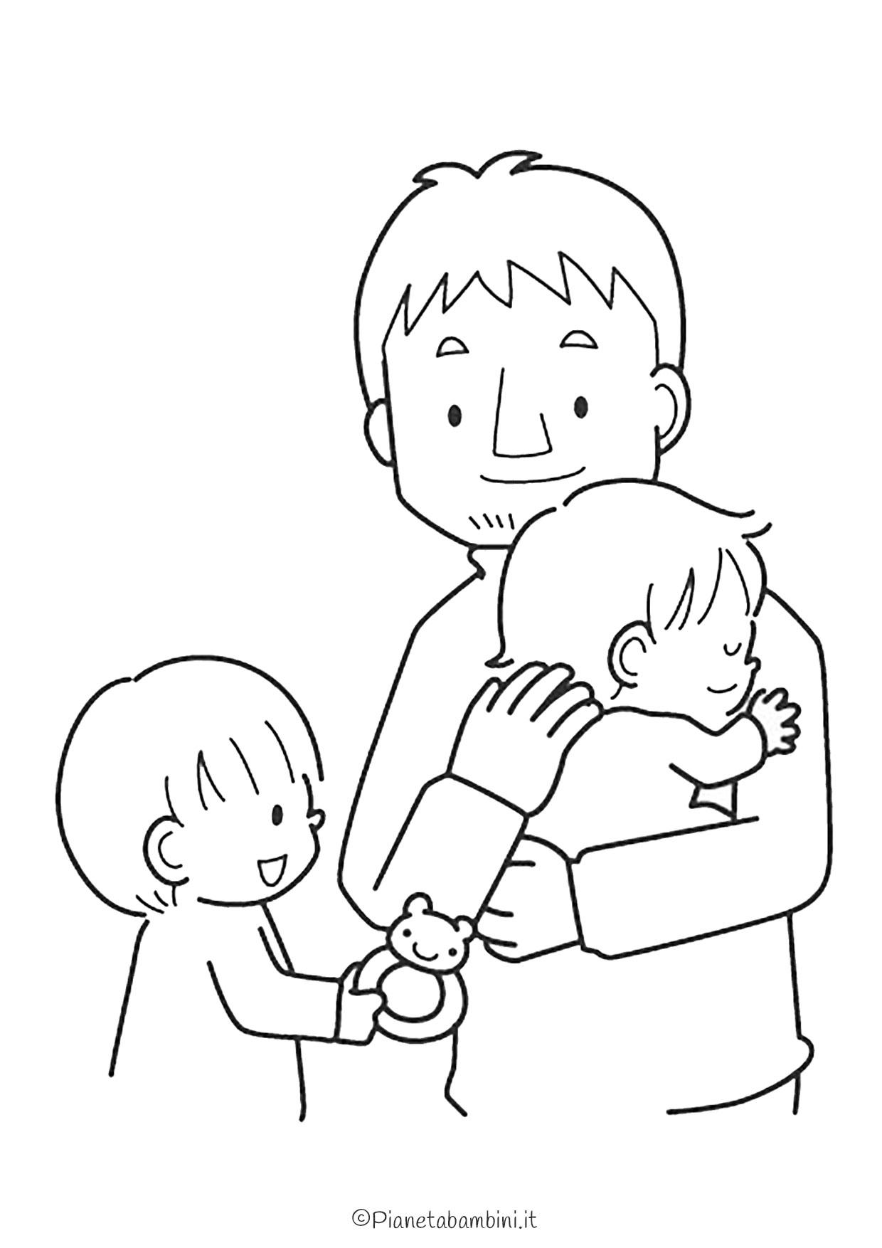 Disegno festa del papà da colorare 14