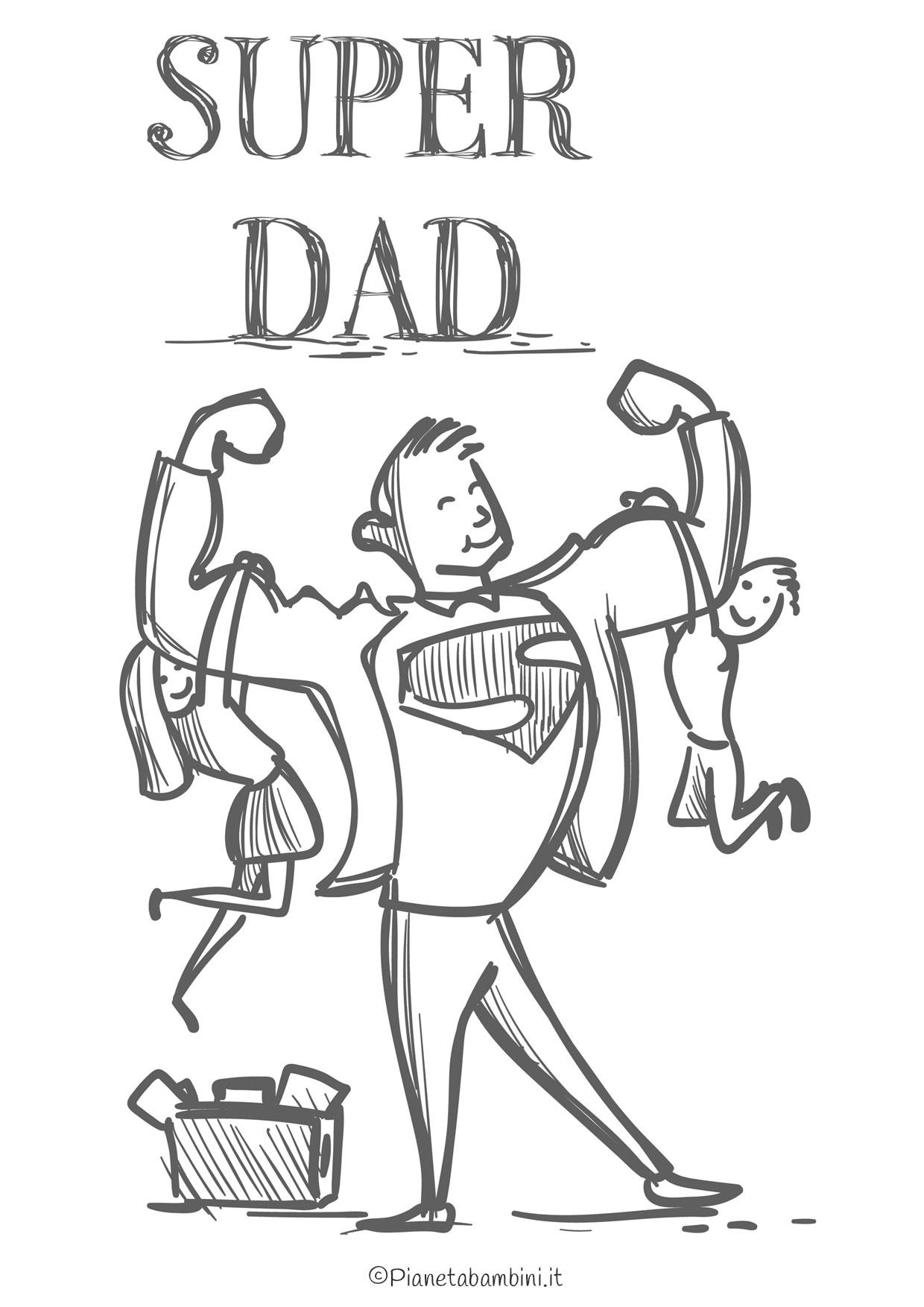 Disegno festa del papà da colorare 15