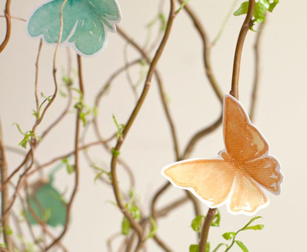 Farfalle di carta colorate per decorazioni