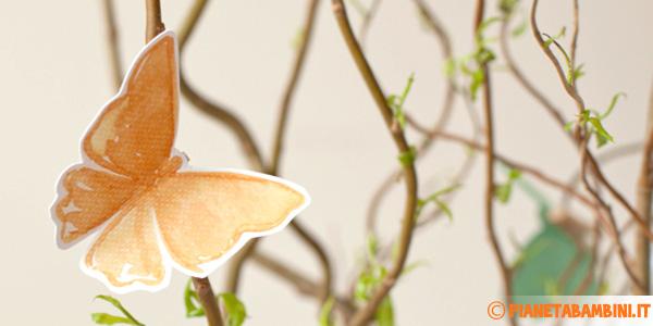 Farfalle già colorate pronte da stampare e ritagliare