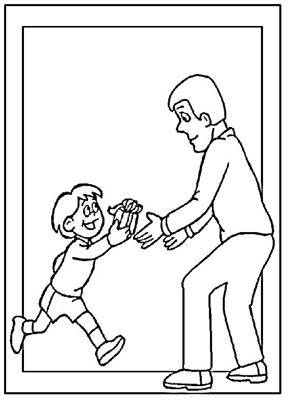 Disegno festa del papà da colorare 19