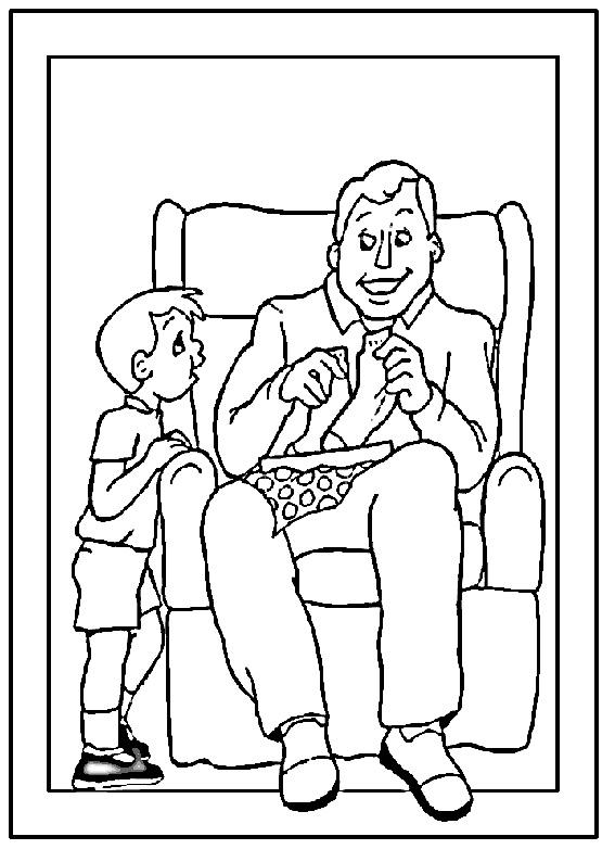 Disegno festa del papà da colorare 20