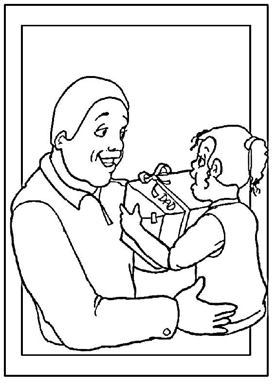 Disegno festa del papà da colorare 22