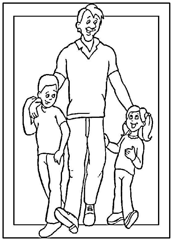 Disegno festa del papà da colorare 26