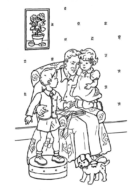 Disegno festa del papà da colorare 29