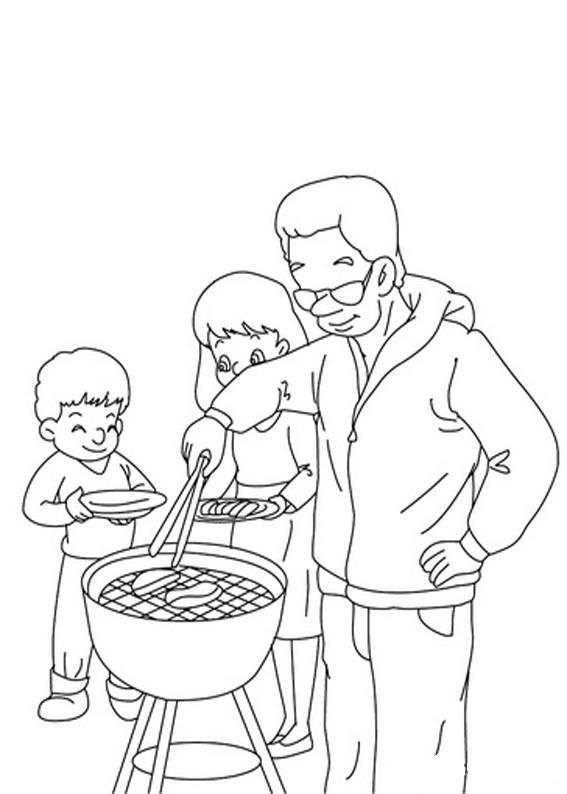 Disegno festa del papà da colorare 34