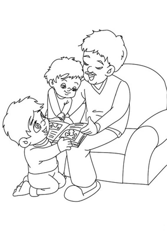 Disegno festa del papà da colorare 40