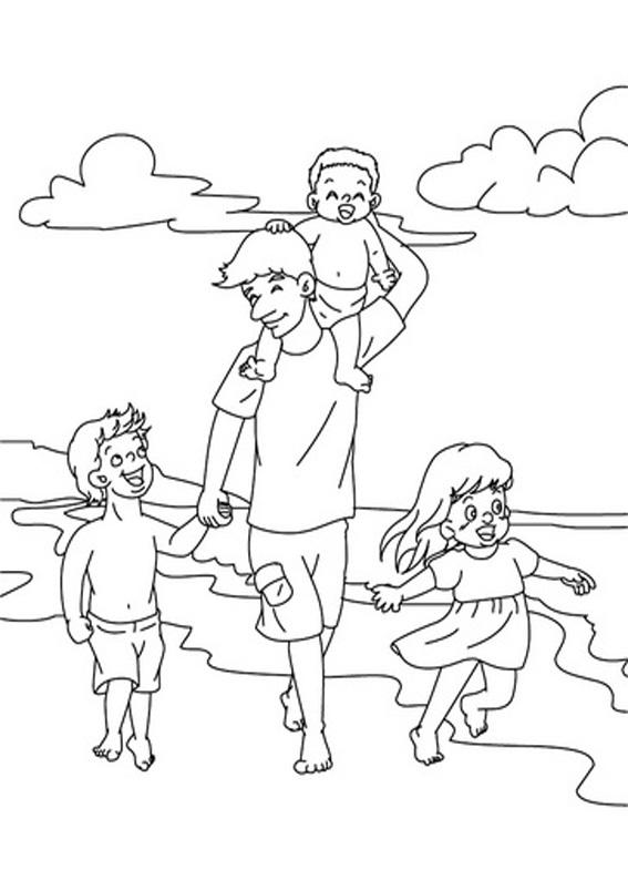 Disegno festa del papà da colorare 42
