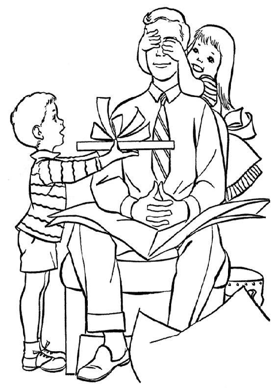 Disegno festa del papà da colorare 45