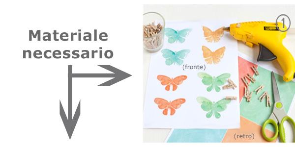 Materiale necessario per la creazione delle farfalle
