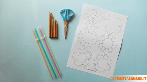Occorrente per creare i fiori di carta