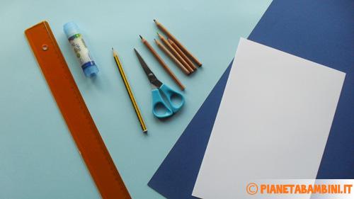Materiale necessario per creare la camicia di cartoncino