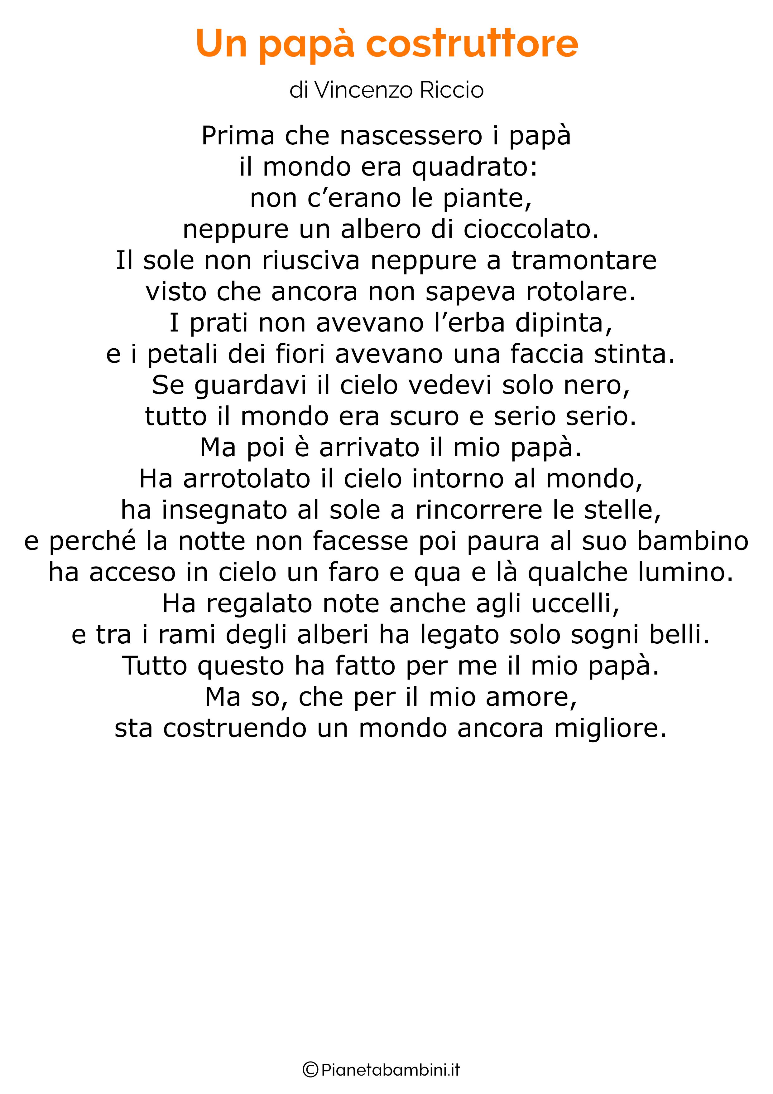 Poesie per la festa del papà bambini