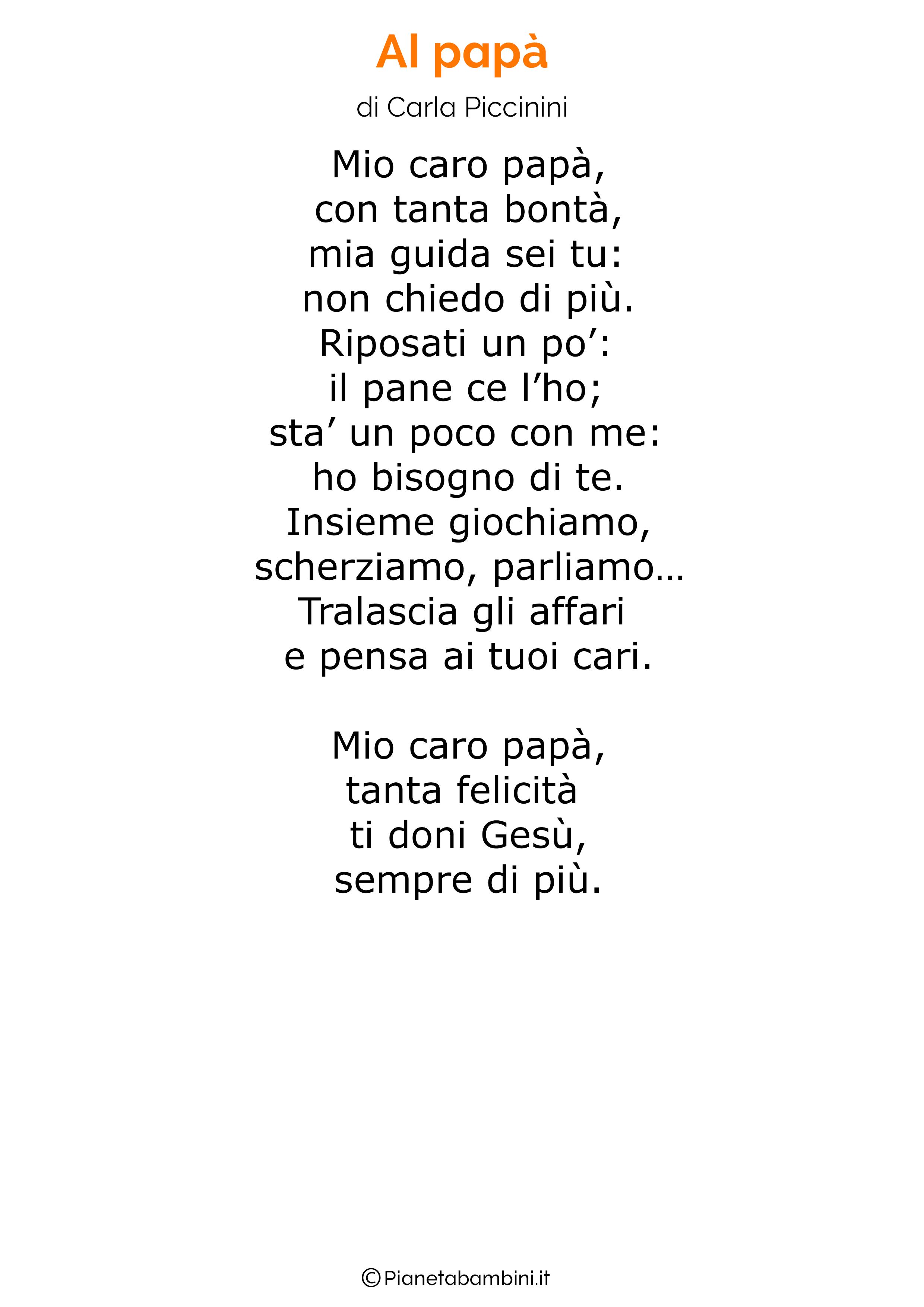 Poesia per la festa del papa per bambini 09