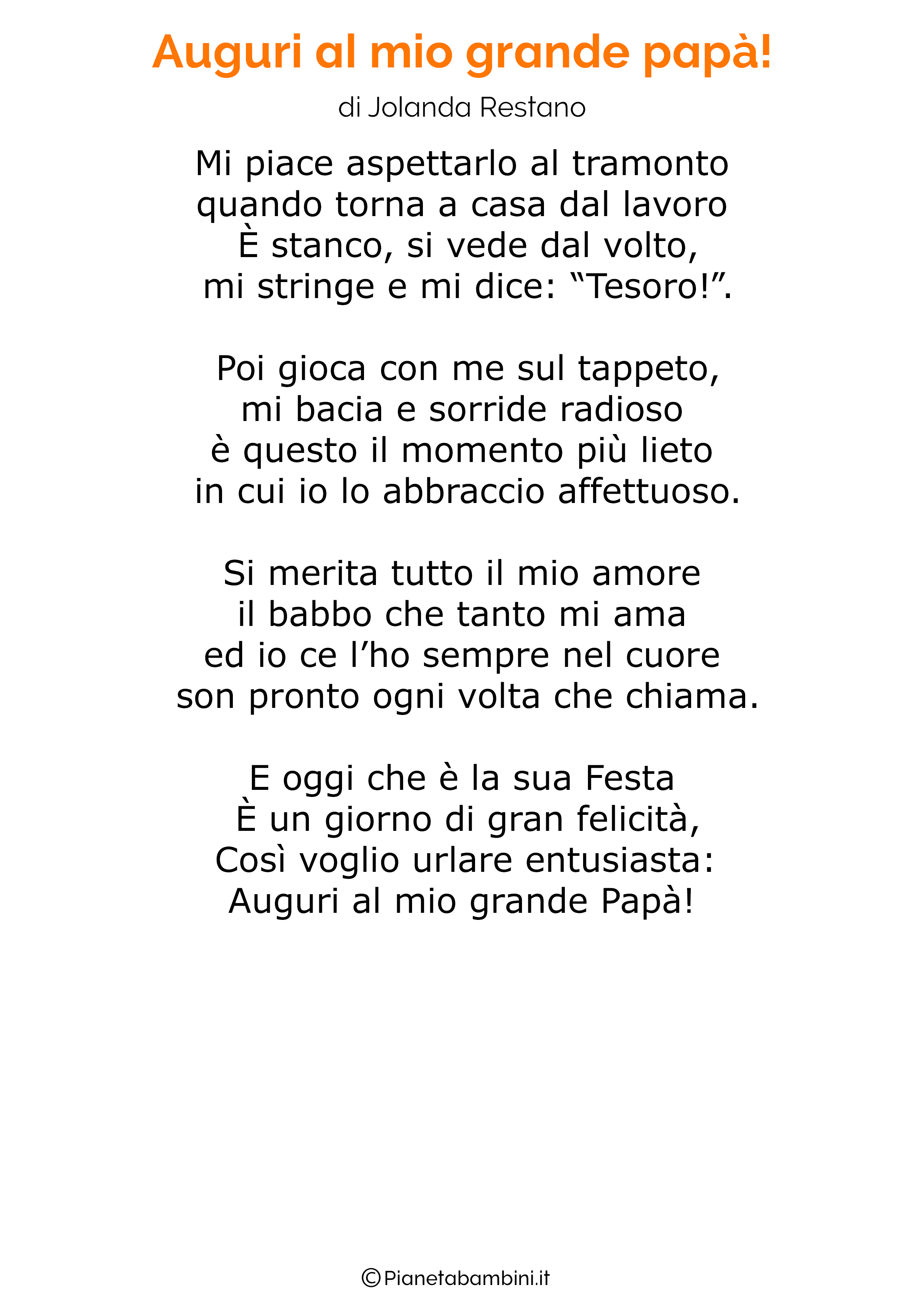 Poesia per la festa del papa per bambini 10