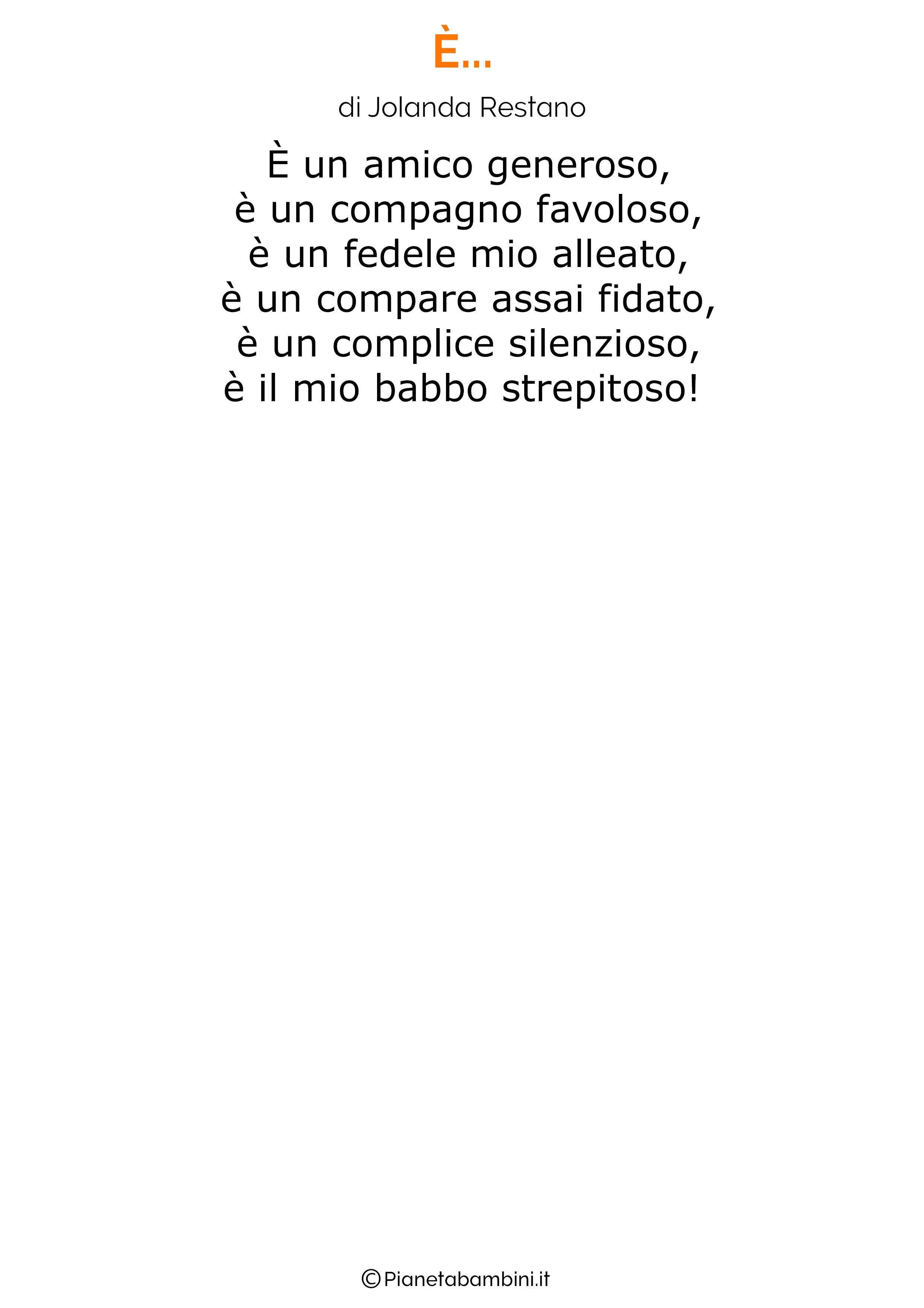 Poesia per la festa del papa per bambini 11