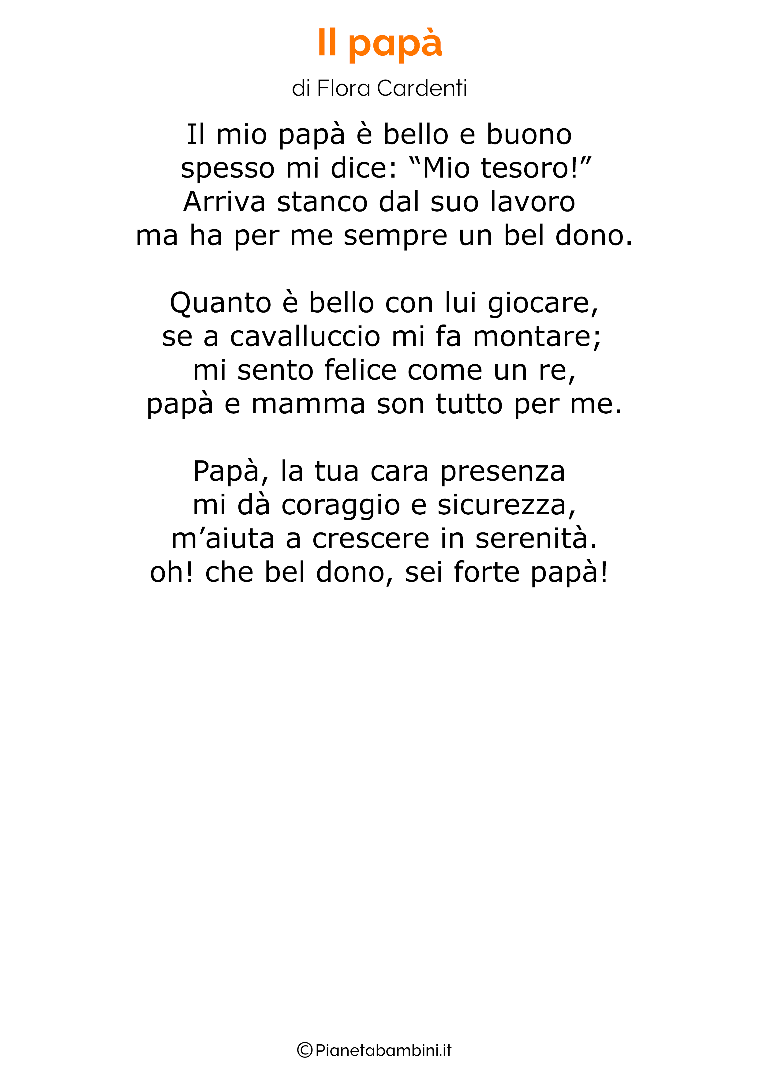 Poesia per la festa del papa per bambini 21