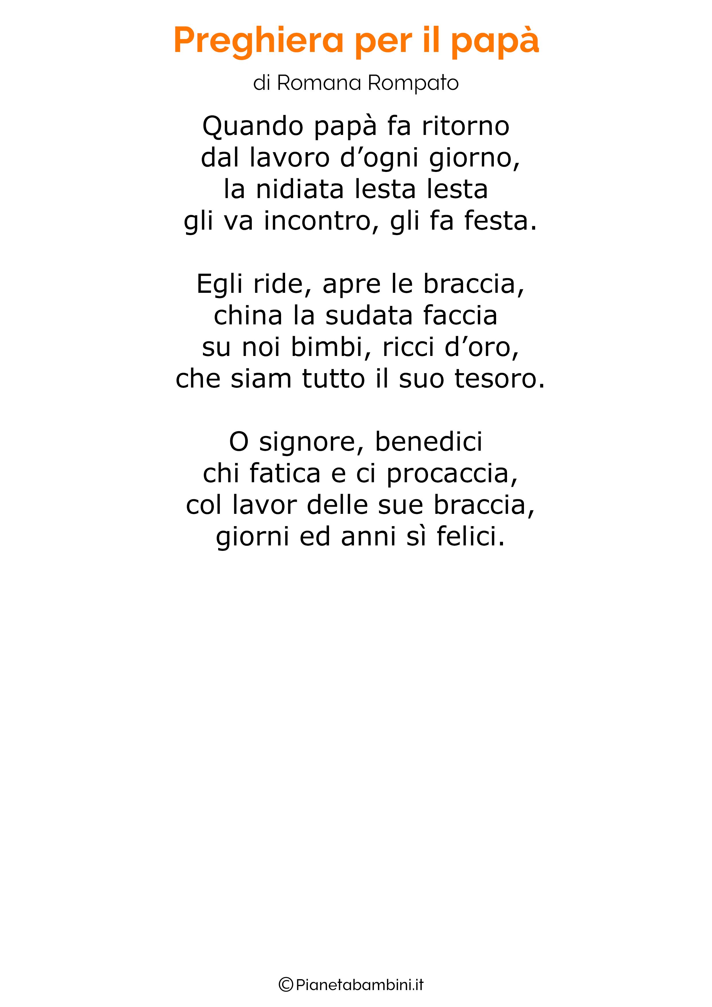 Poesia per la festa del papa per bambini 25