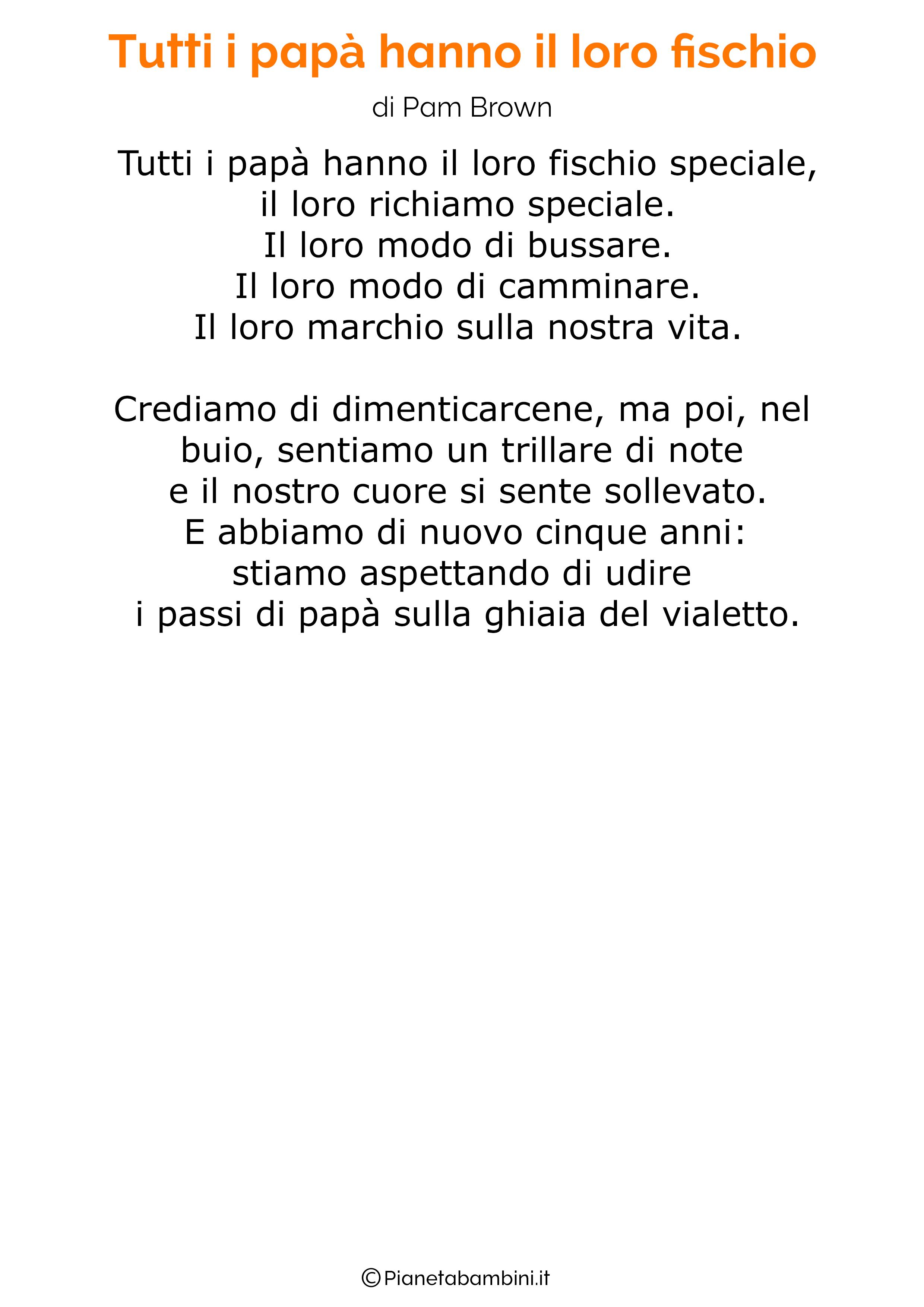 Poesia per la festa del papa per bambini 26