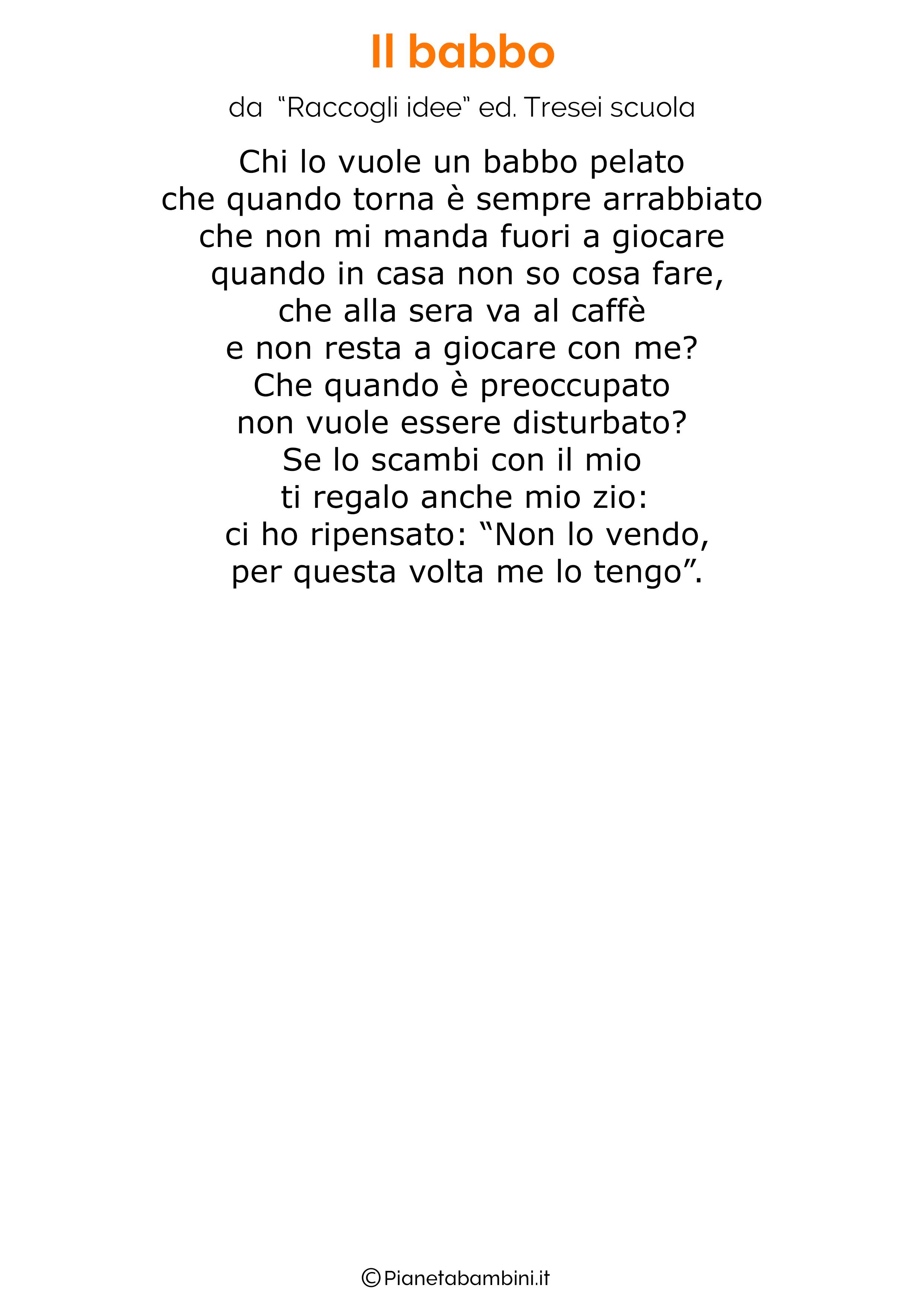 Poesia per la festa del papa per bambini 41