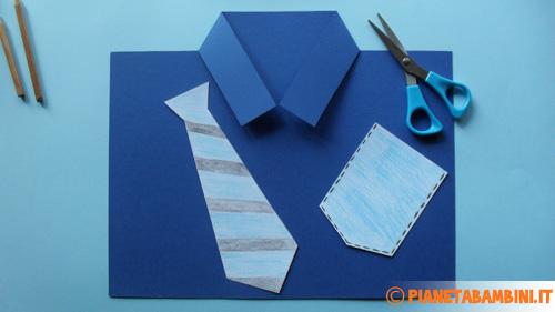 Come ritagliare la cravatta ed il taschino