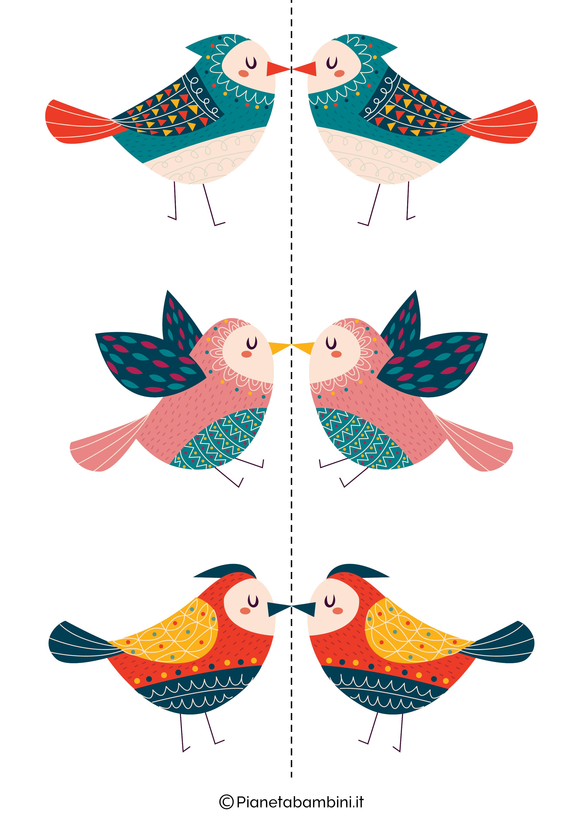 Disegni di uccelli colorati 02