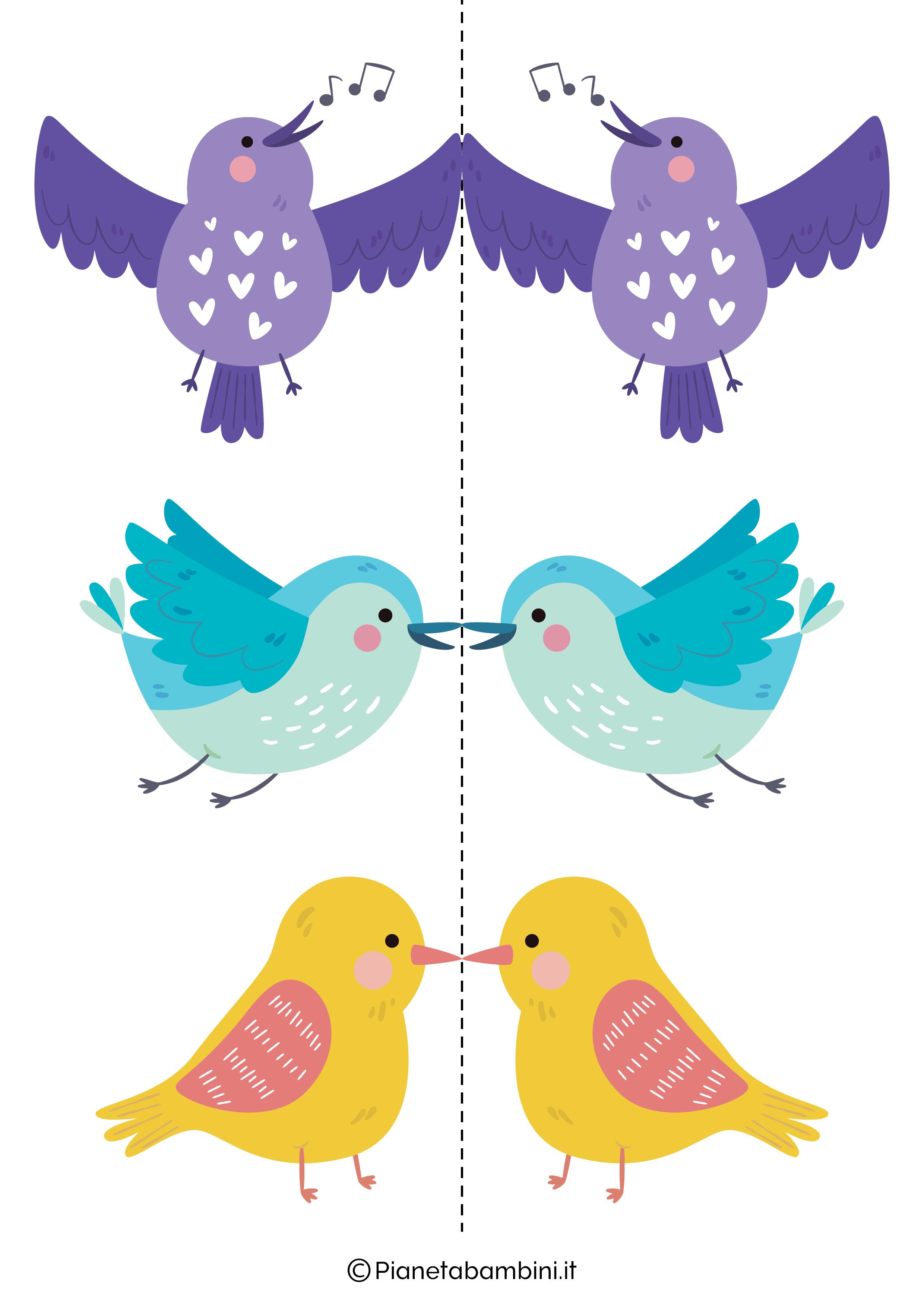 Disegni di uccelli colorati 03