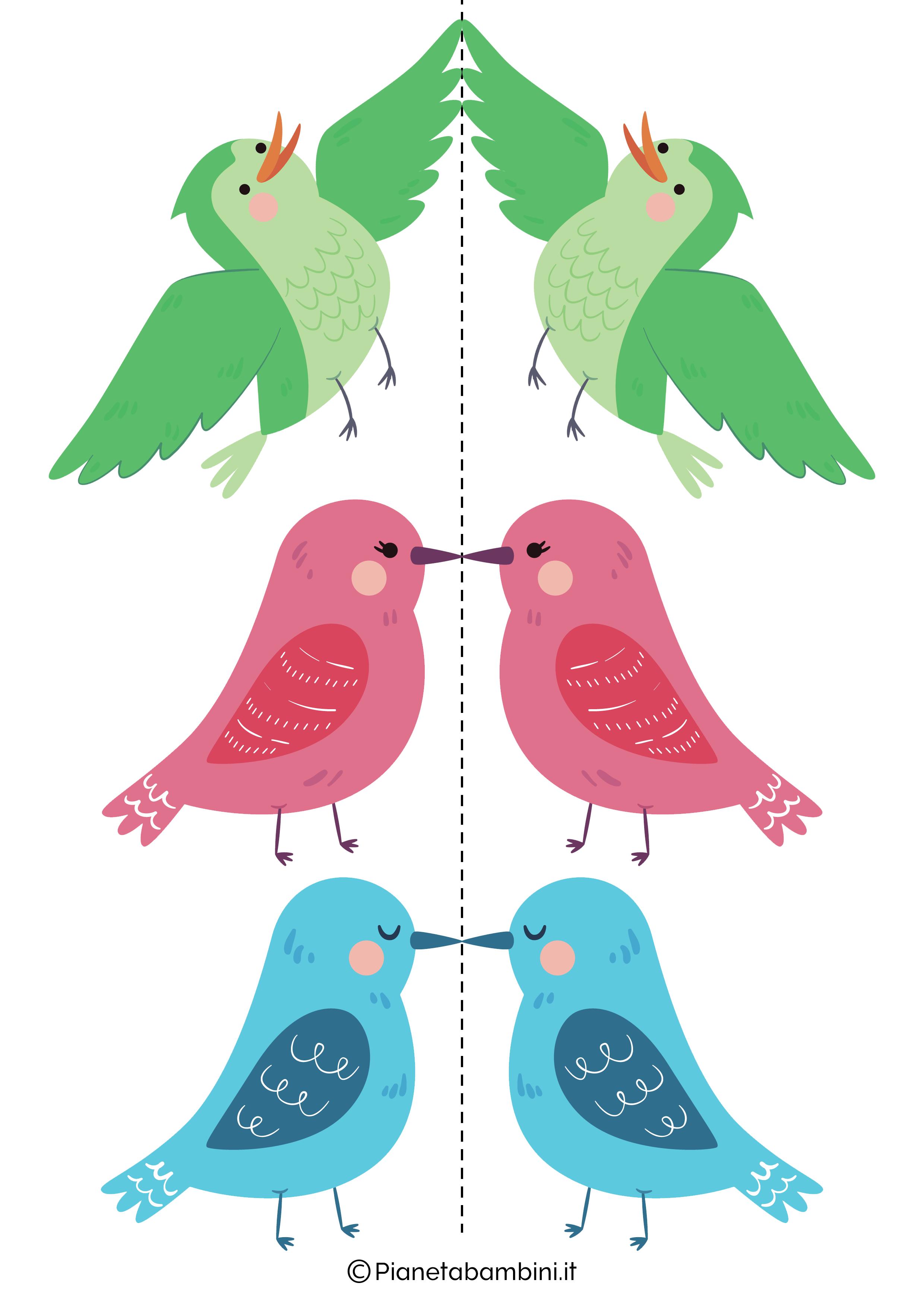 Disegni di uccelli colorati 04