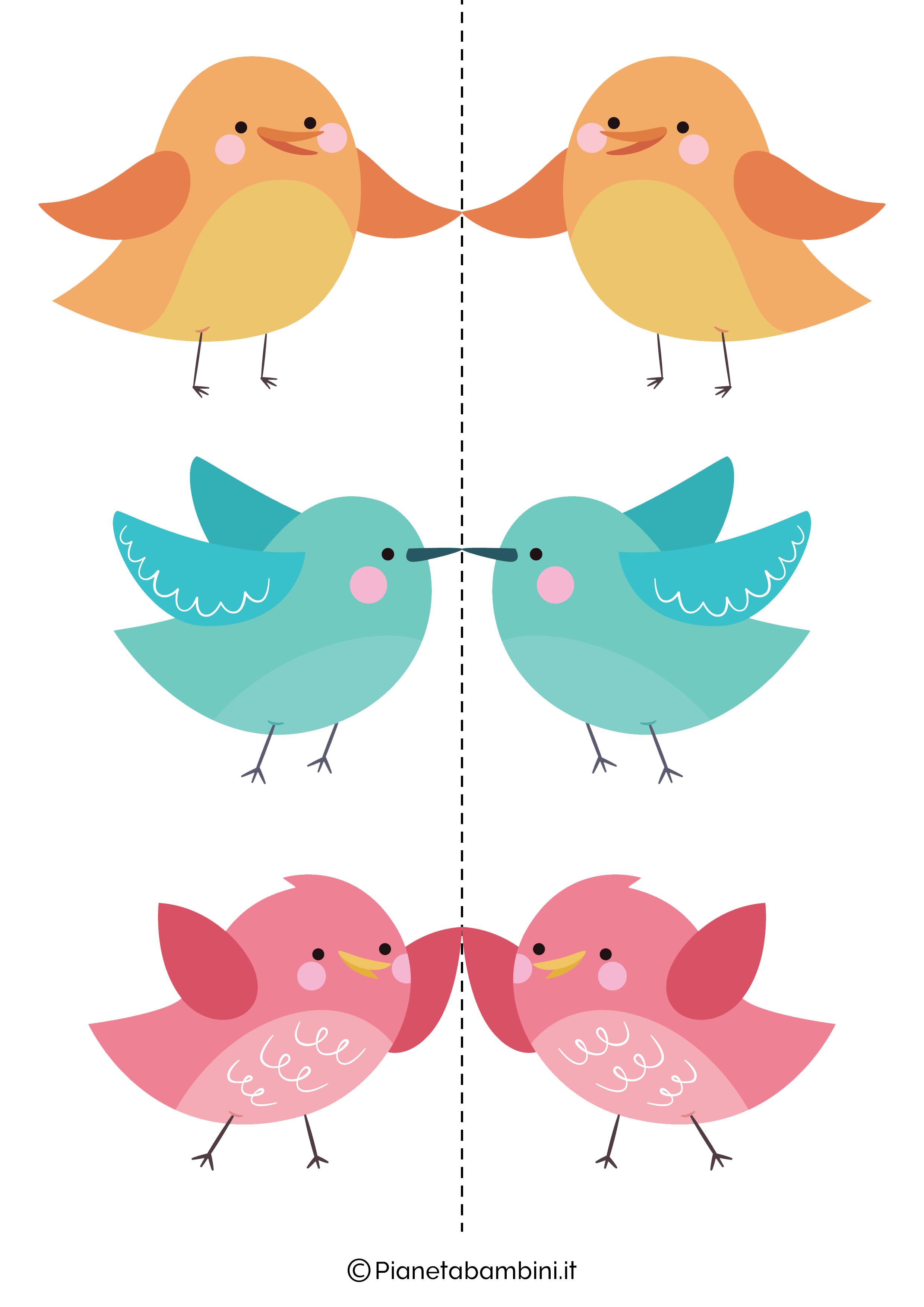 Disegni di uccelli colorati 05
