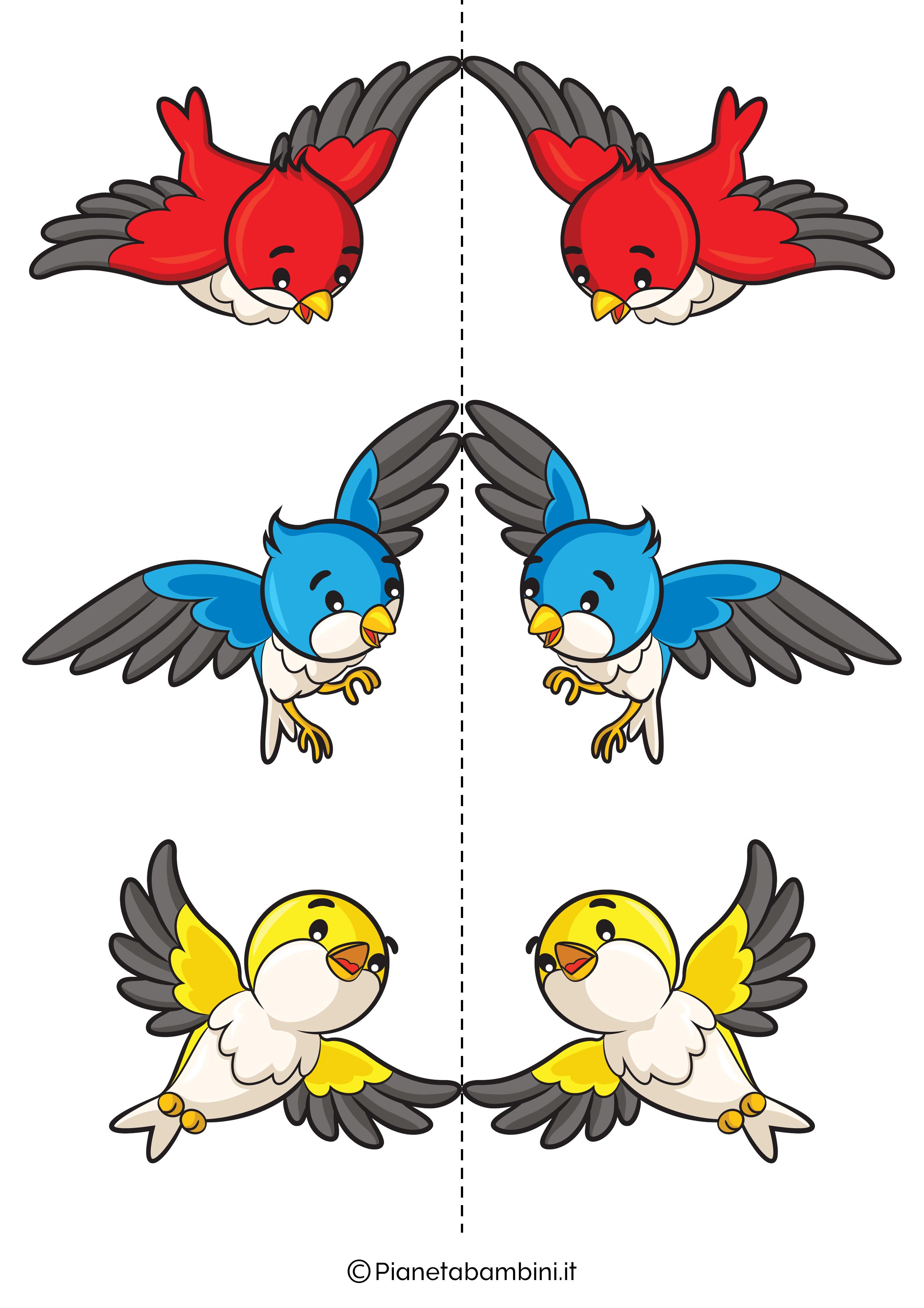 Disegni di uccelli colorati 01