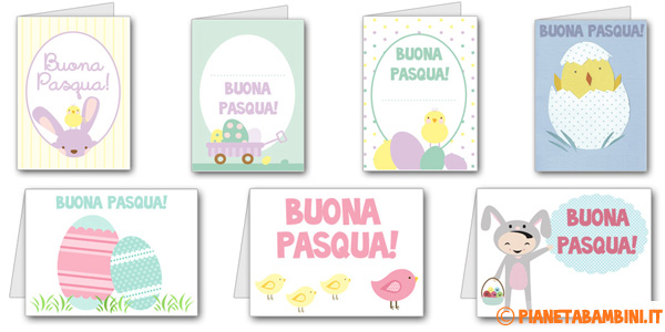 Biglietti Di Auguri Di Pasqua Da Stampare Per Bambini