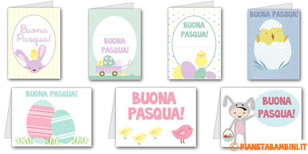 Biglietti di auguri di Pasqua pronti da stampare gratis
