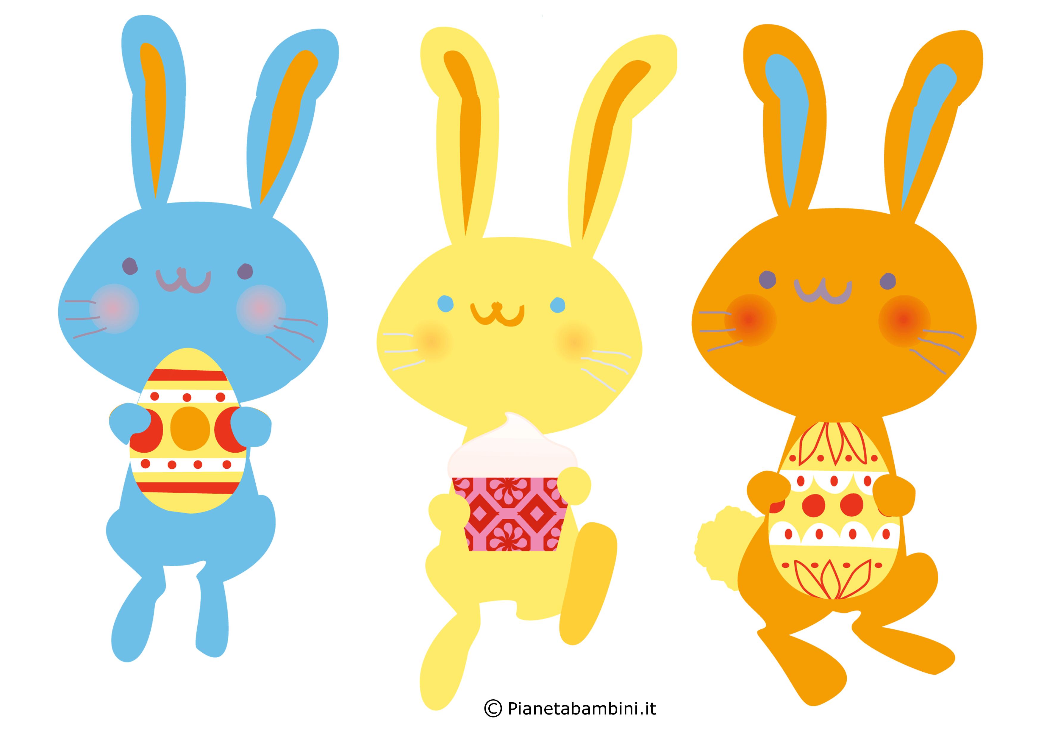 Sagome di coniglietti pasquali da stampare per decorazioni for Lepre immagini da stampare