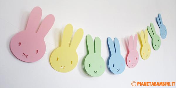 Coniglietti pasquali per decorazioni da stampare