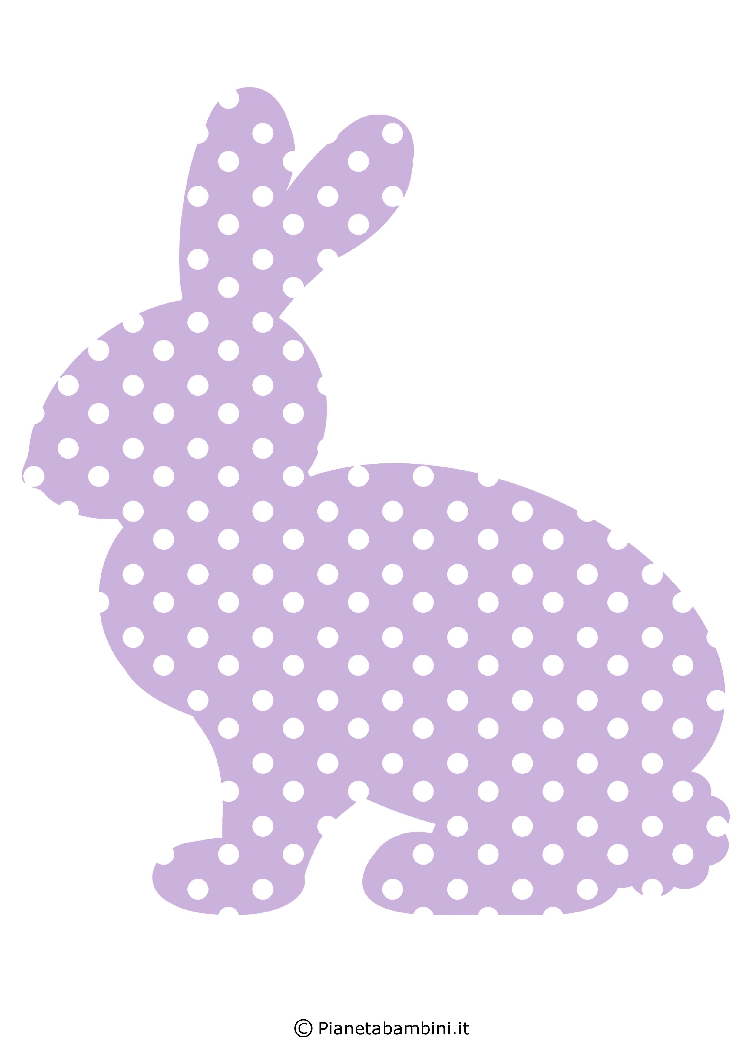 Coniglietti pasquali fantasia da stampare 1