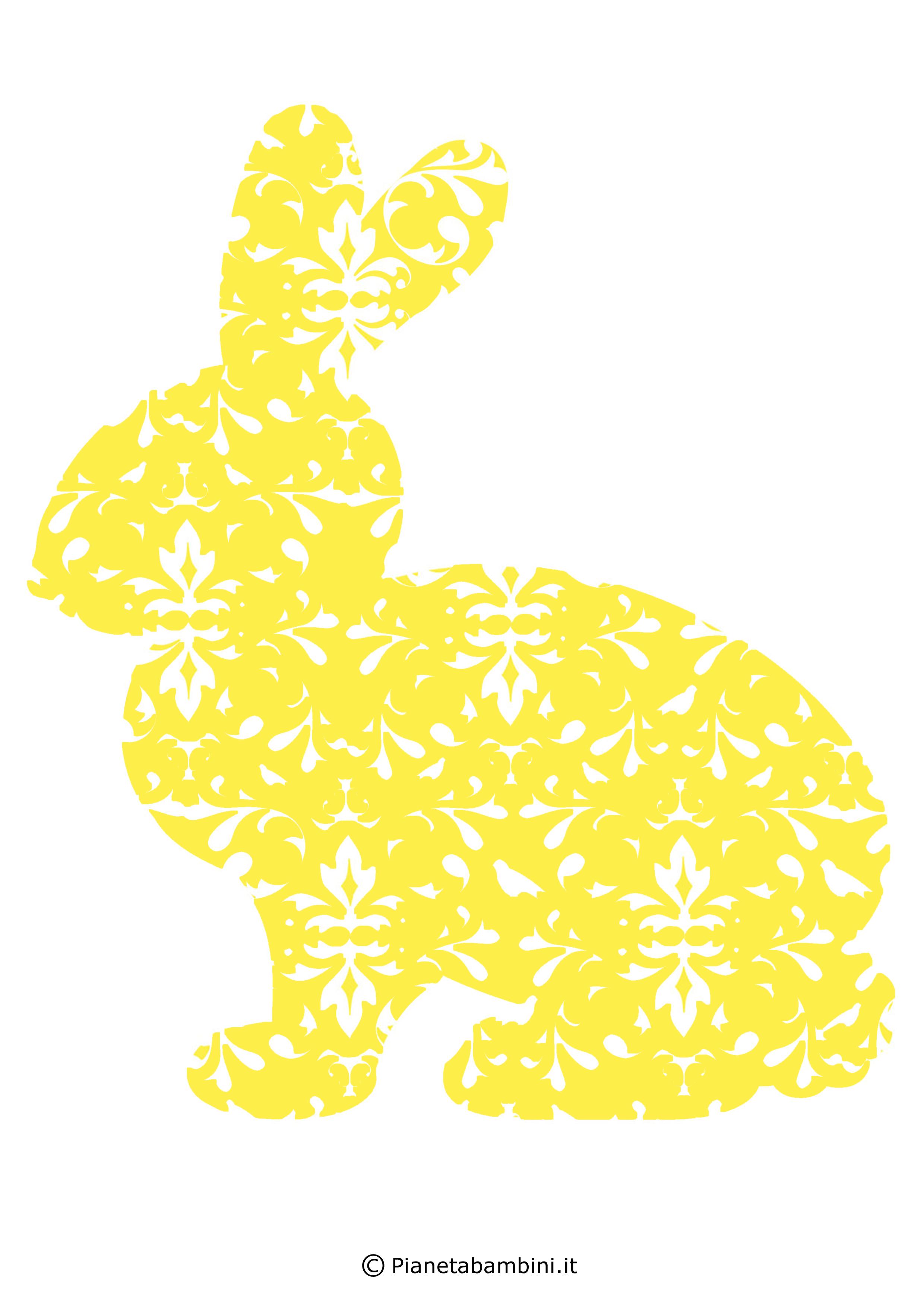 Coniglietti pasquali fantasia da stampare 2