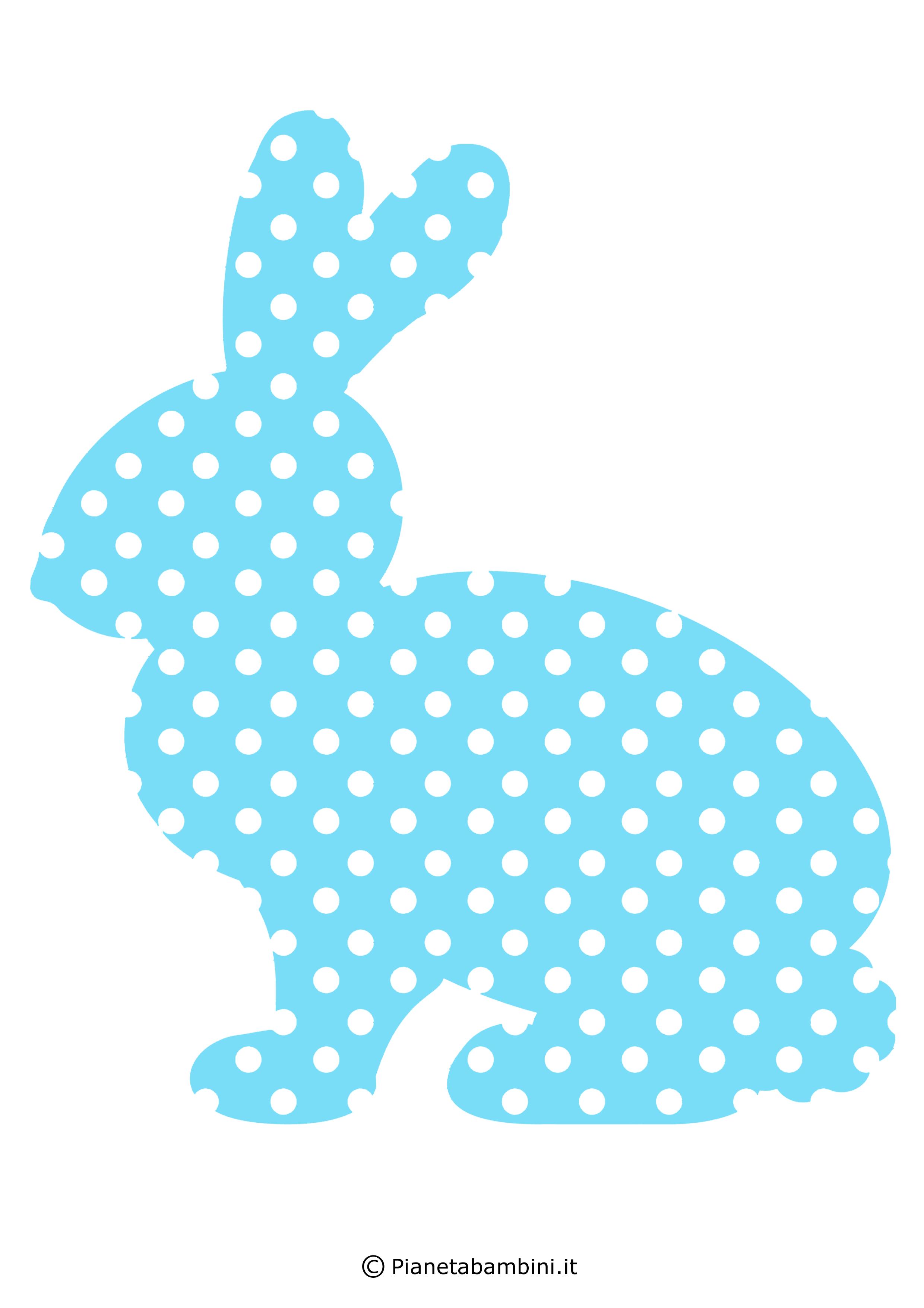 Coniglietti pasquali fantasia da stampare 3