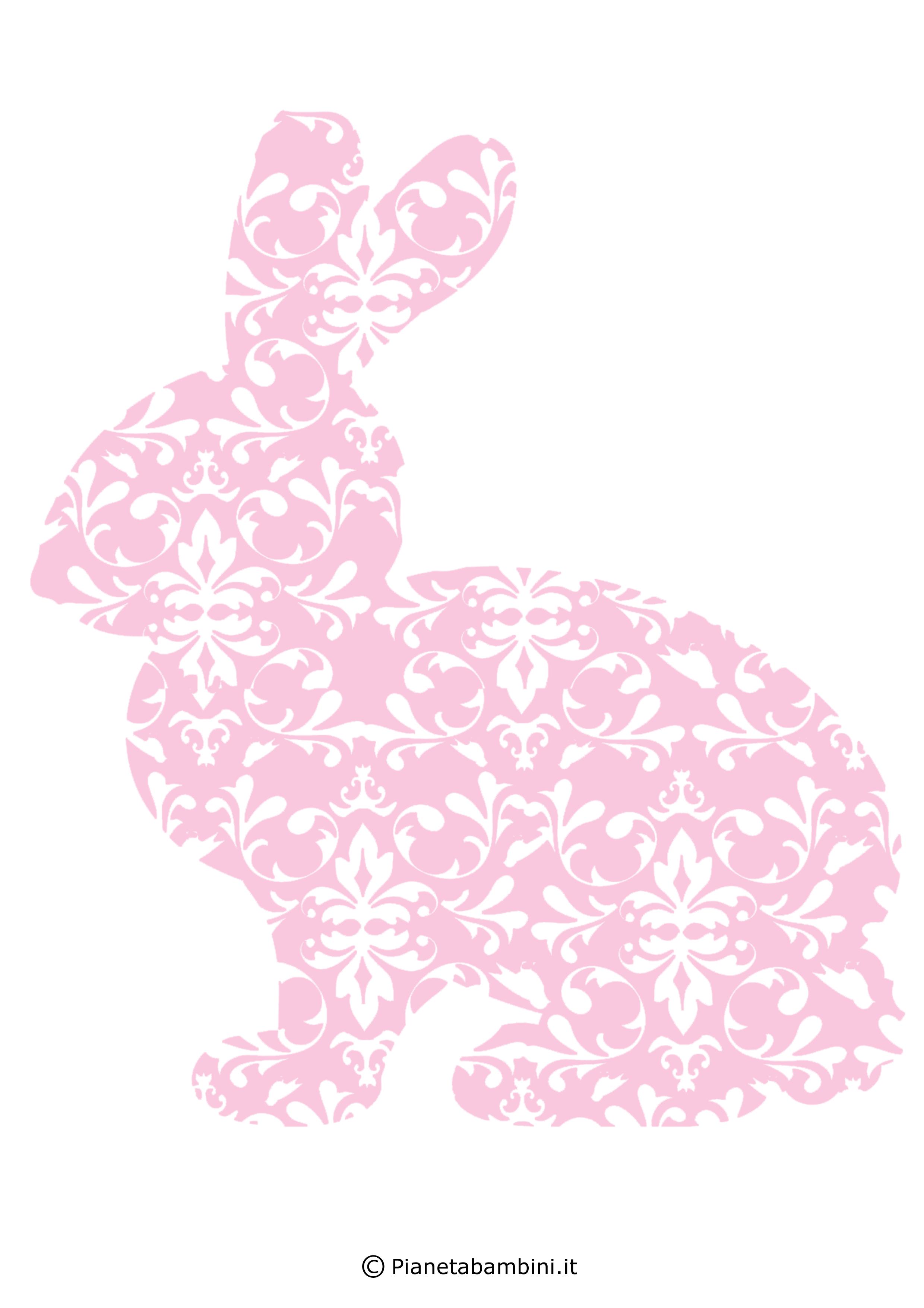 Coniglietti pasquali fantasia da stampare 4