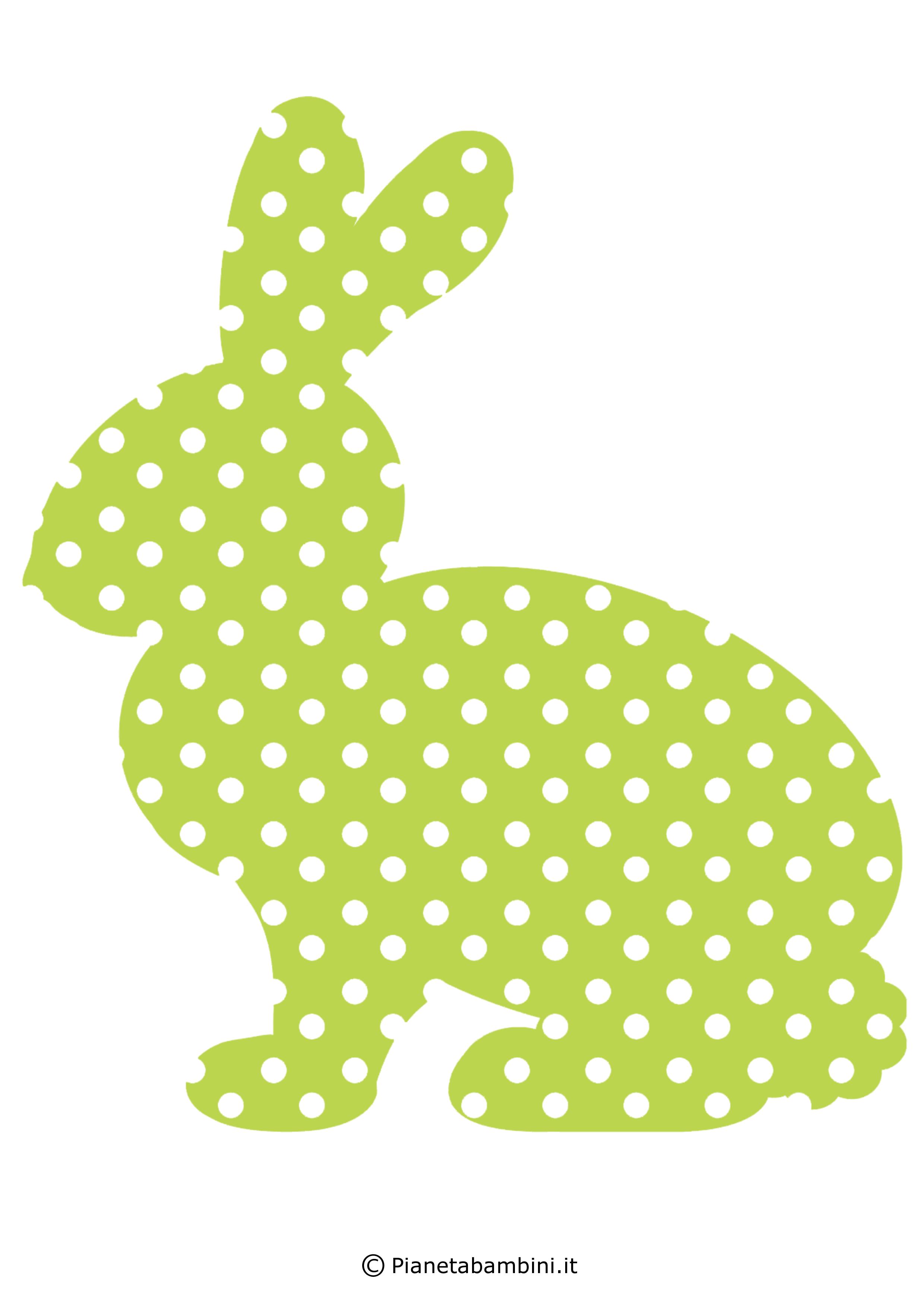 Coniglietti pasquali fantasia da stampare 5