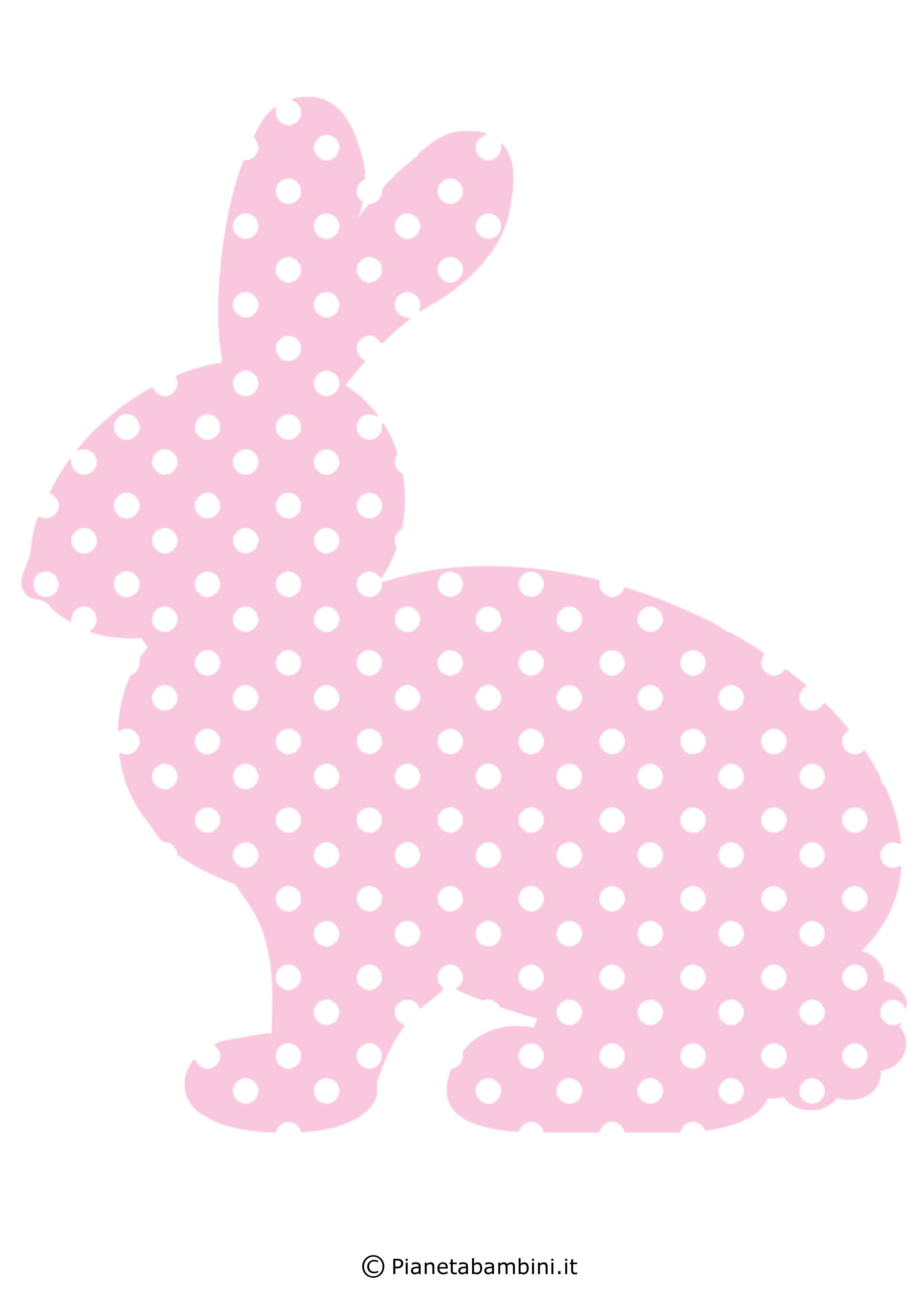 Coniglietti pasquali fantasia da stampare 6
