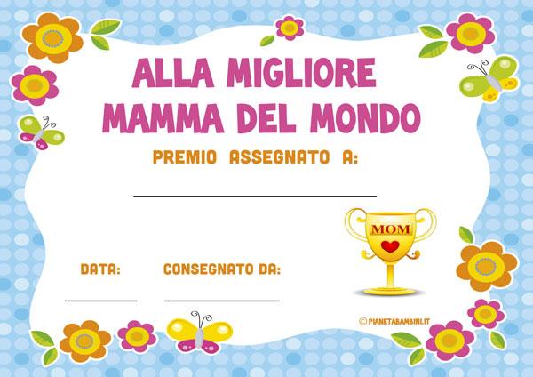 Immagine del diploma per la festa della mamma n.1