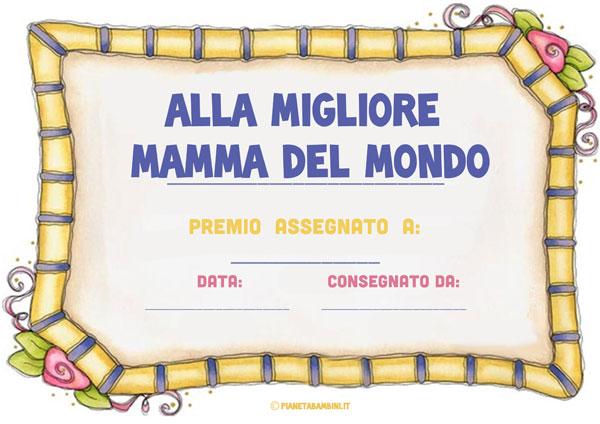 Immagine del diploma per la festa della mamma n. 2