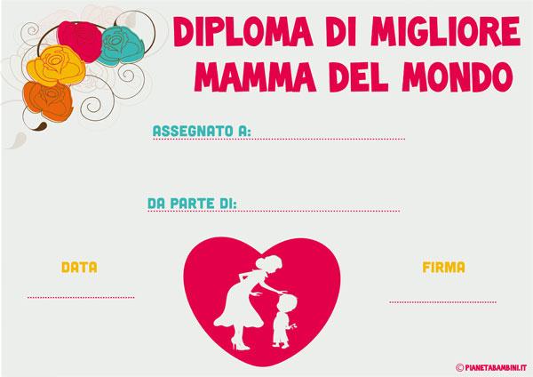 Immagine del diploma per la festa della mamma n. 3