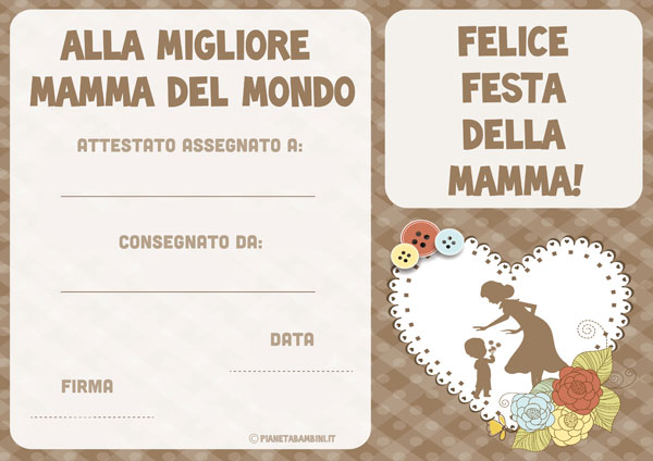 Immagine del diploma per la festa della mamma n. 5