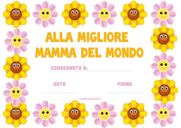 Immagine del diploma per la festa della mamma n. 6