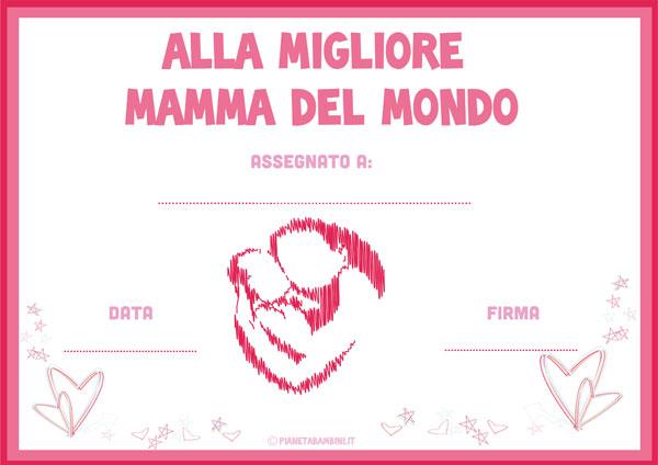 Immagine del diploma per la festa della mamma n. 7
