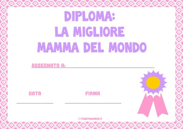 Immagine del diploma per la festa della mamma n. 8