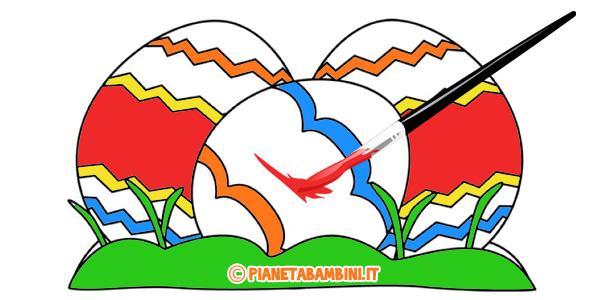 Disegni di Pasqua per bambini da stampare e colorare