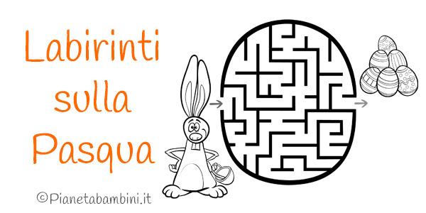 Labirinti per bambini dedicati alla Pasqua
